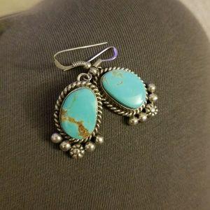 Handmade Navajo Turquoise Earrings